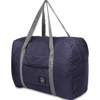 Unova Folding Travel Duffel Bag Packable Light Nylon Water Resistant Tote Weekend Getaway Overnight Carry-on Shoulder (Navy Blue)