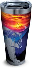 Tervis 1294091 Tennessee-Smoky Mountains Tumbler with Clear and Black Hammer Lid, 30 oz Stainless Steel, Silver