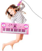 Shayson Kids Piano Keyboard, 37 Keys Electronic Piano Keyboard with Microphone Educational Toys Gifts for Toddlers Kids Birthday