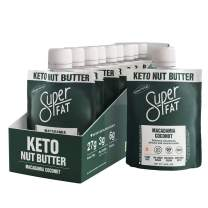 SuperFat Nut Butter Keto Snacks - Macadamia Almond Nut Butter Fat Bomb Paleo Snack For Energy, Metabolism & Brain Function, Vegan, Gluten Free, Low Net Carb Box of 10 x 1.5 oz (Macadamia Coconut)