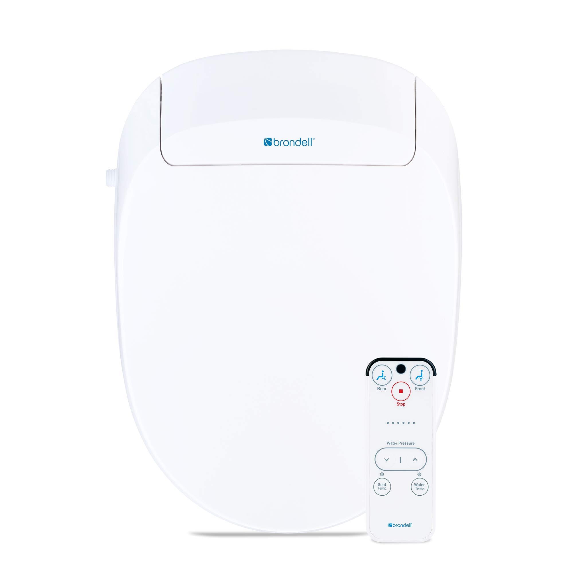 Brondell Inc. S300-EW Swash 300 Elongated Advanced Bidet Toilet Seat, White