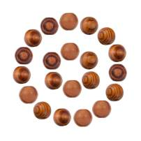 NBEADS 500g Round Wood Beads, Lead Free, Burlywood, 14x13mm, Hole: 4mm; About 650pcs/500g