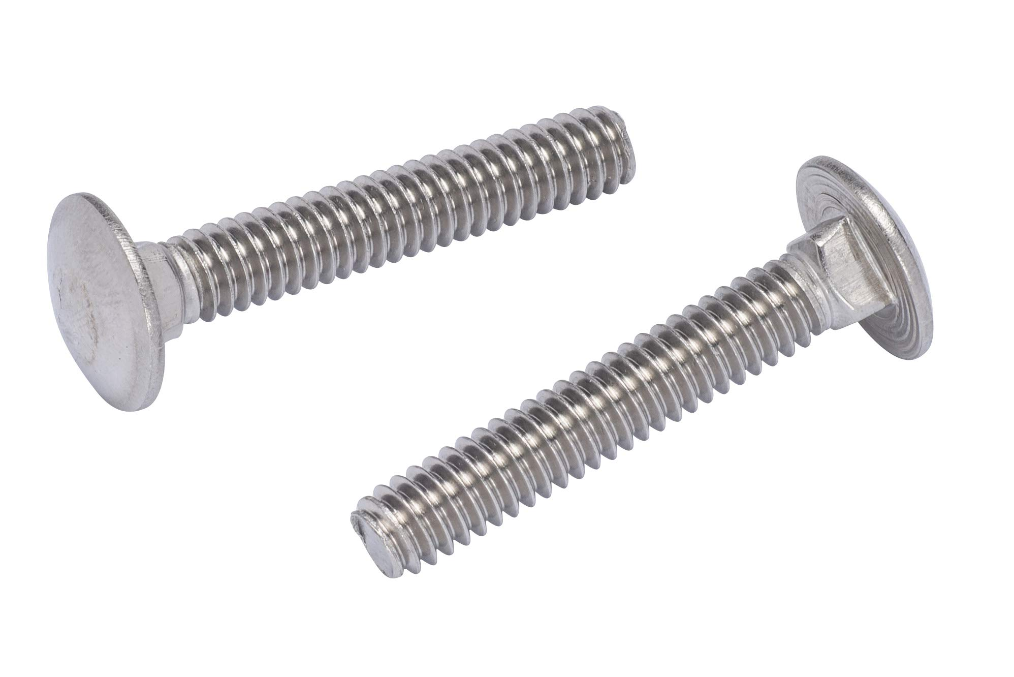 """1/4""""-20 X 2-1/4"""" (25pc) Stainless Carriage Bolt, 18-8 Stainless Steel"""