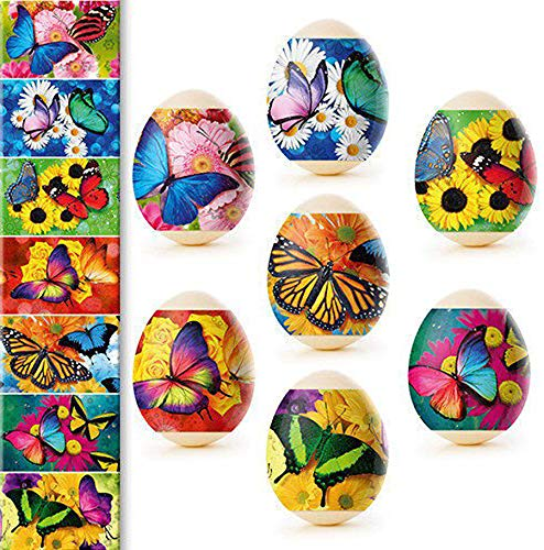 Diximus Moths & Butterflies Egg Wraps Thermo Heat Shrink Sticker Wraps Pysanka Pysanky Sleeve Decoration