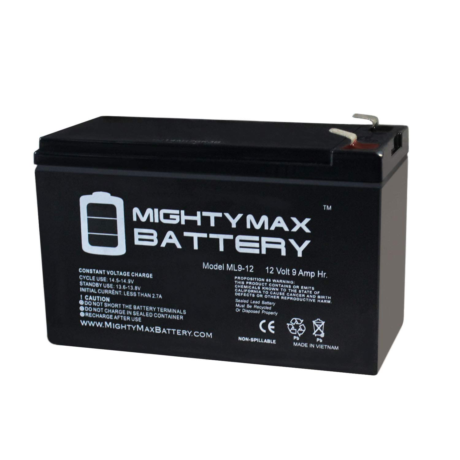 Mighty Max Battery 12V 9Ah SLA Battery Replacement for Vexilar FL-8SE Genz Pack Brand Product
