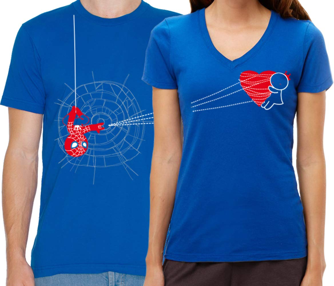 BoldLoft You've Captured My Heart Couples Shirts-Couples Gifts-Spiderman Gifts