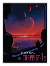 NASA JPL Visions of The Future Space Tourism Travel Poster Trappist-1e Handmade Gallery Print (18x24)