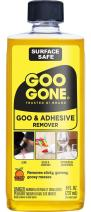 Goo Gone Adhesive Remover - 8 Ounce - Surface Safe Adhesive Remover Safely Removes Stickers Labels Decals Residue Tape Chewing Gum Grease Tar