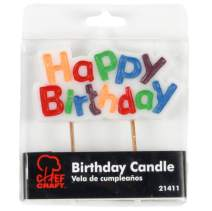 """Chef Craft 21411 Select Happy Birthday Candle, 4"""", White"""