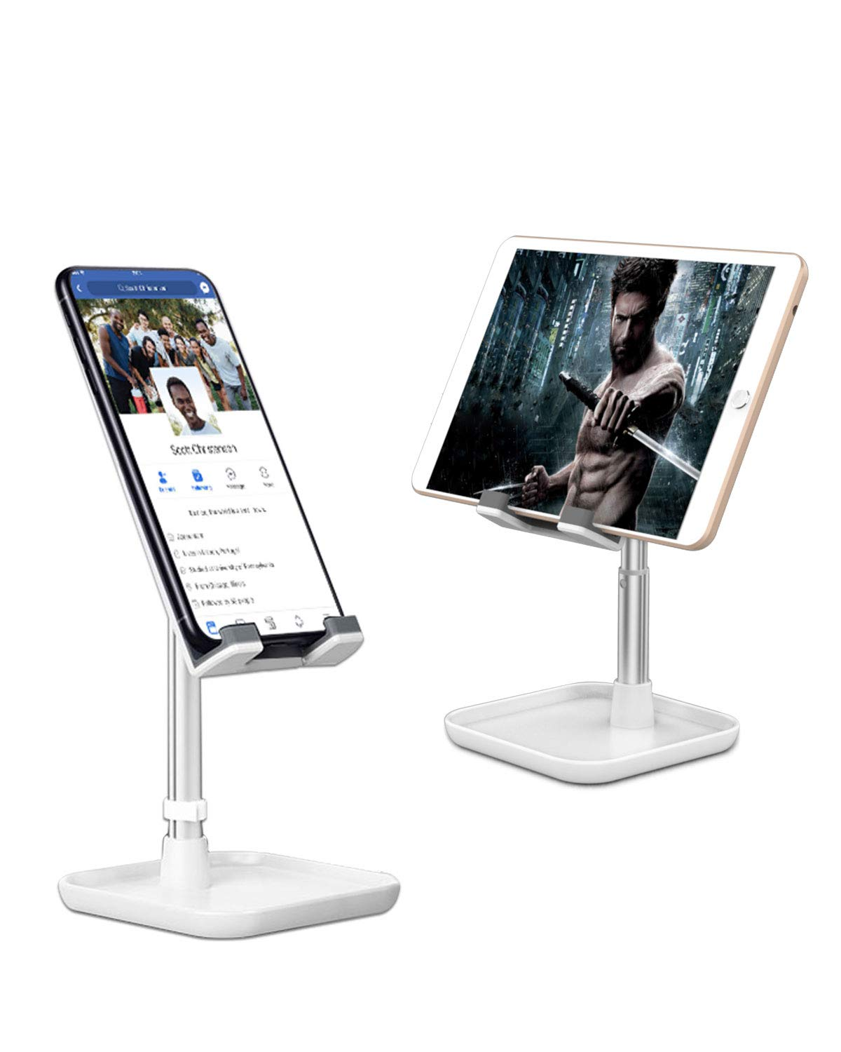Cell Phone Stand, Height Angle Adjustable Phone Stand,Deep Dream Desktop Sturdy Aluminum Metal Phone Holder,Compatible with iPhone/iPad/Kindle/Mobile Phone/Tablet,4-13in