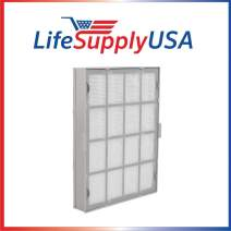 LifeSupplyUSA Replacement True HEPA Filter Cartridge Set Compatible with Winix 119110 Ultimate and Many Others Size 21