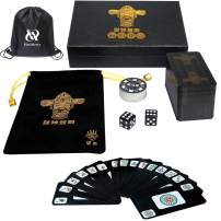 144 cards Travel game set Accessories,Chinese Mahjong (Mah Jong, Mahjongg, Mah-Jongg, Mah Jongg, Majiang) Playing Cards game,Waterproof Mahjong card with Gift box,Best Gift for majhong lover and begin