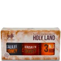 Israeli Pure Raw Wildflower Honey, Holy Land Gift Set (3 x 4.4 oz)
