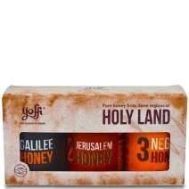 Israeli Pure Raw Wildflower Honey, Holy Land Gift Set (3 x 4.4 oz)
