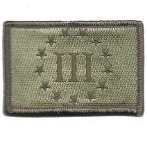"""2""""x3"""" Emblem Three Percenter Tactical - ATACS-Tan"""