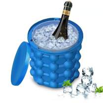 Dearlives Large Silicone Ice Bucket with Lid, Beverage Cooler, Portable Ice Maker Great for Indoor, Outdoor Refrigerator, Cocktail Party and Picnics Beach Outdoor