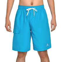 CAMELSPORTS Men's Quick Dry Swim Trunks with Pockets Beach Board Shorts with Lining Bathing Suits