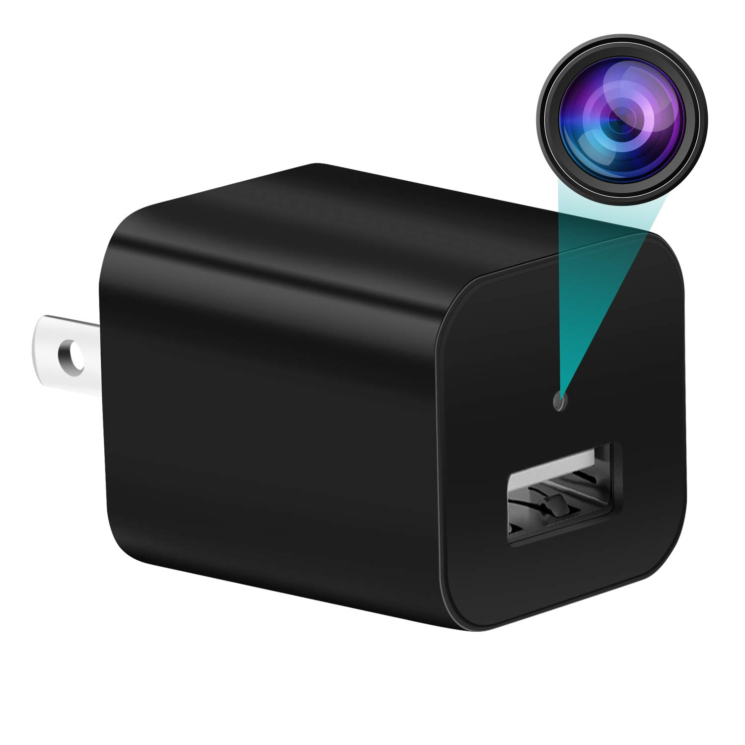 Hidden Camera, USB Spy Camera Wall Charger, HD 1080P Small Outlet Hidden Nanny Camera for Home with Motion Detection