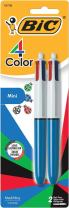 BIC 4-Color Mini Ballpoint Pen, Medium Point (1.0mm), Assorted Inks, 2-Count