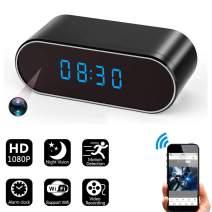 SeKunmRy HD 1080P Wireless WiFi Hidden Spy Camera Alarm Clock with Night Vision/Motion Detection/Loop Recording,Phone APP & PC Software Remote Monitored Mini Smart Nanny Cam