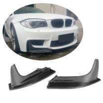 MCARCAR KIT Front Bumper Splitter fits BMW 1 Series E82 1M Coupe 2011-2018 Factory Outlet Carbon Fiber CF Upper Spoiler Winglets Vents Cover Cupwings Flaps