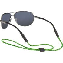 Chums Unisex 3mm Universal Fit Rope Eyewear Retainer, Green, Dark Green, Yellow, One-Size