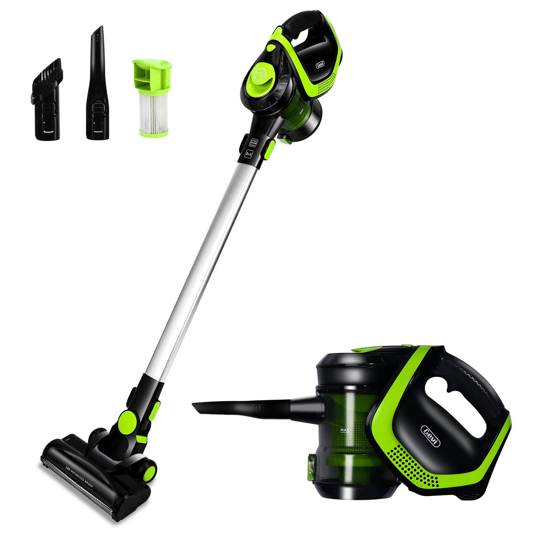 Cordless Vacuum 18Kpa Powerful Suction 250W Brushless Motor Vacuum Cleaner 4 in 1 Stick Vacuum Handheld Cleaner for Home Hardwood Floor Great for Hair Car Pet Vacuum, Lightweight Vacuum