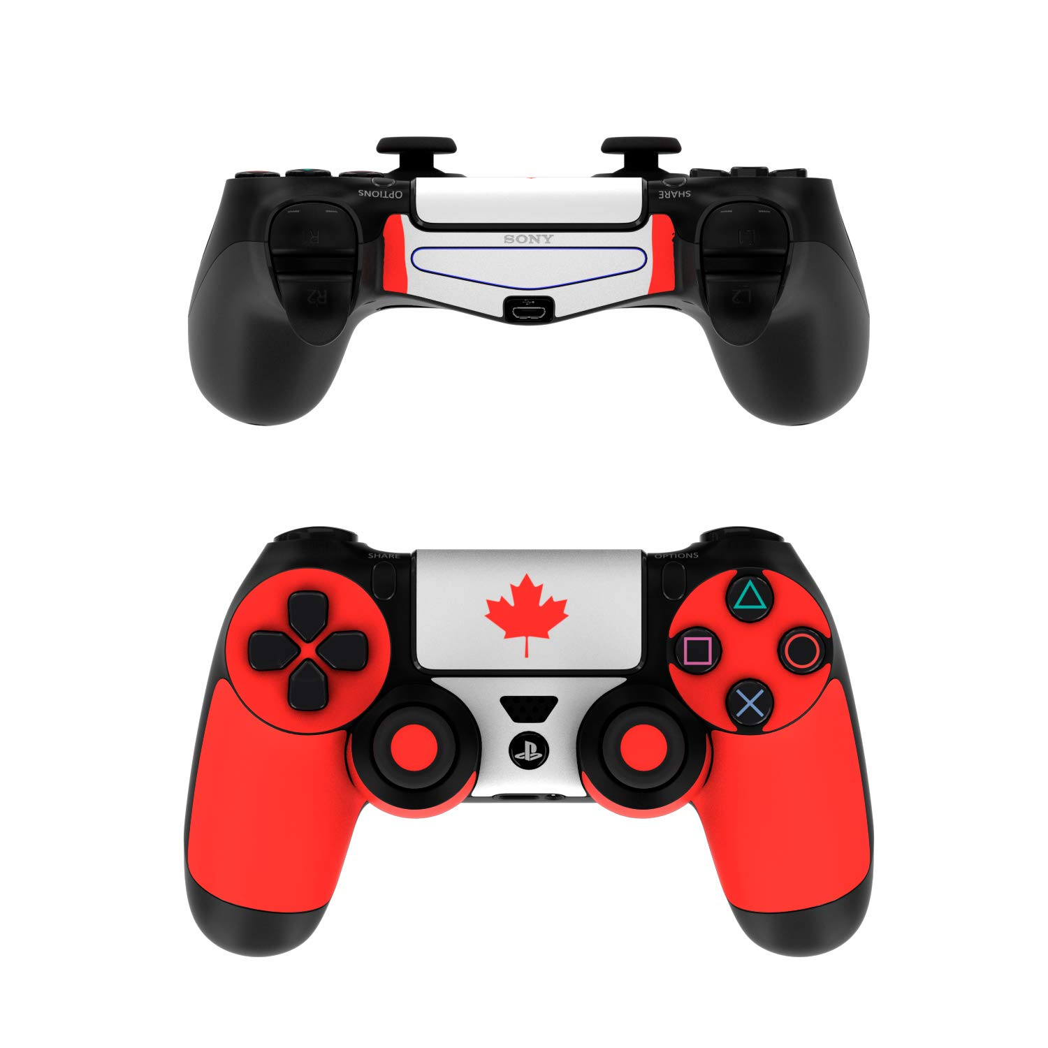 Canadian Flag - PS4 Controller Skin Sticker Decal Wrap (Controller NOT Included)