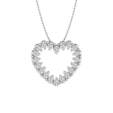 0.15 Ct Simulated Diamond Solid 925 Sterling Silver Cross Pendant Necklace For Womens