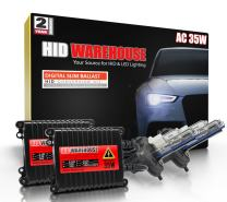 HID-Warehouse 35W AC Xenon HID Lights with Premium Slim AC Ballast - H4 / 9003 10000K - 10K Dark Blue - 2 Year Warranty