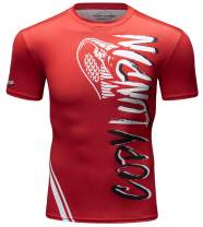 Red Plume Men's Base Layer Tops Compression Short Sleeve Shirts Running Tee