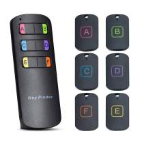Key Finder Key Tracker Locator WONYERED GPS Wireless Item Finder with 1 RF Transmitter 6 Receivers Anti-Lost Stickers and Keychain for Purse Pet Cell Phone Anything