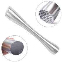 """Stainless Steel Cocktail Muddler 8"""" Professional Old Fashioned & Mojitos Drink Muddler Ideal Bartender Tool"""