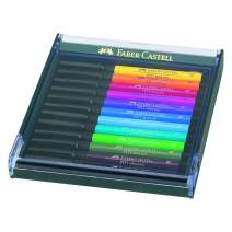Faber-Castell PITT Artist Brush Pen Set of 12 Intensive Colours In a Robust Workstation
