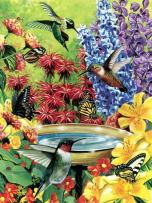 Cobble Hill Hummingbird Garden 500 Piece Jigsaw Puzzle