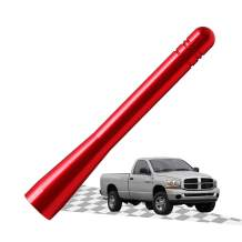 Elitezip Replacement Antenna for Dodge RAM 2500 2012-2018 | Optimized AM/FM Reception with Tough Material | 4 Inches - Vermilion Red