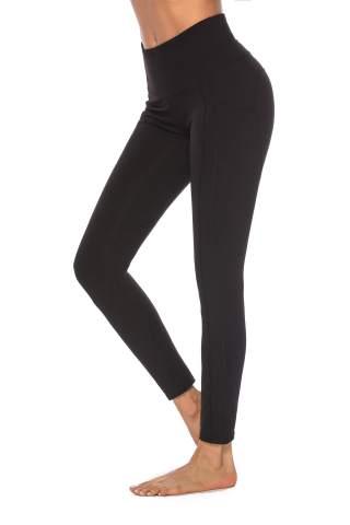 Womens Sports Yoga Pants High Waist Gym Leggings Pocket Fitness Running Workout