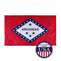 Vispronet - Arkansas State Flag - 3ft x 5ft Knitted Polyester Flag, State Flag Collection, Made in The USA (Flag only)