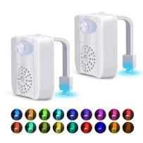 Toilet Bowl Night Light - 2 Pack Motion Sensor LED Toilet Lights, Great Gift Ideas for Men Women Mom Dad Boys Girls Kids