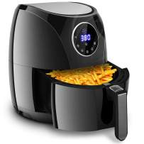 Costzon 7-In-1 Air Fryer, 3.4 Quart 1400W, Healthy Oil Free Cooking, Hot Air Deep Cooker with LCD Touch, Temperature and Time Control, Dishwasher, Detachable Basket Handle, UL Certified