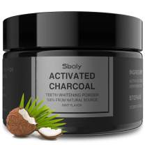 Activated Charcoal Natural Tooth Powder, Teeth Whitening Charcoal Powder, Enamel Safe Teeth Whitener Effective Stain Remover by Sboly,Original Flavor, 2.11Oz