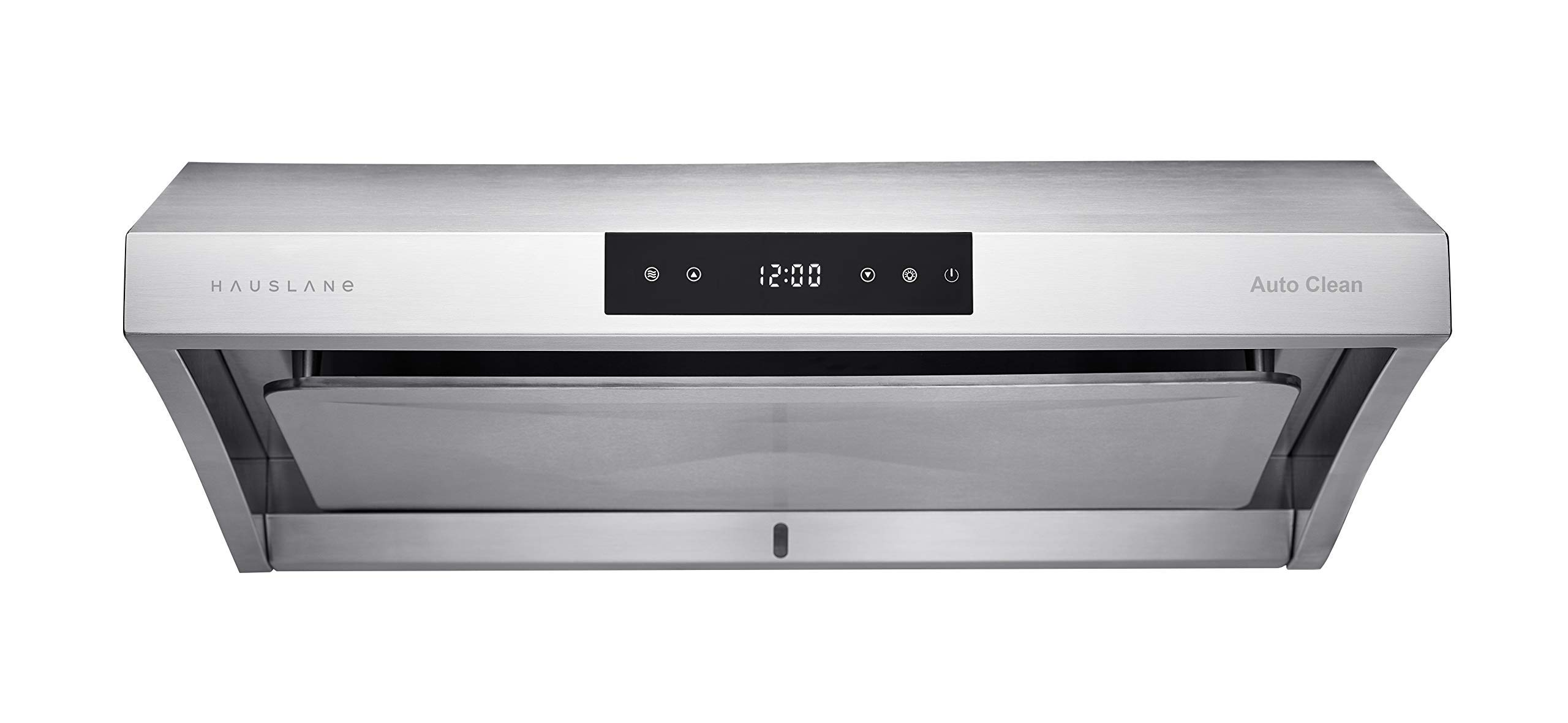 Hauslane Chef Series Range Hood 30 Ps38 Pro Performance Stainless Steel Slim Under Cabinet Range Hood Design Steam Auto Clean 950 Cfm Touch Panel Superior Perimeter Aspiration Extraction