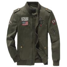 L'ASHER Men's Casual Stylish Military Cotton Zipper Pocket Air Force Jacket Coat