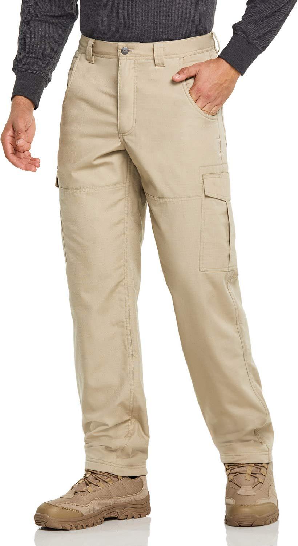 CQR Men's Fleeced Line Tactical Cargo Hiking Water Repellent EDC Pants
