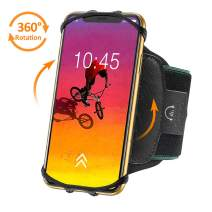 Bovon 360°Rotatable Phone Armband, Super Breathable Sports Arm Band for iPhone 11 Pro Max/X/XS/XR/XS Max/8/7 Plus, Galaxy S10/S9/ S9 Plus/S8, Running Armband with Key Holder for Hiking Biking (Black)