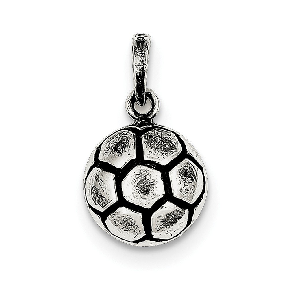 925 Sterling Silver Pendant Charm Necklace Sport Soccer Fine Jewelry For Women Gifts For Her