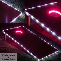 BLINNGO Cornhole Ring Lights and Cornhole Edge Lights, LED Cornhole Lights fit for Standard Cornhole Boards and Cornhole Bags