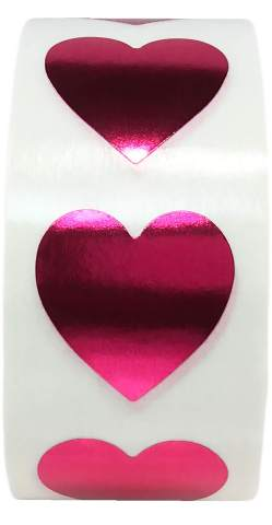 Black Heart Stickers Valentines Day Crafting Scrapbooking 0.75 Inch 500 Adhesive Stickers
