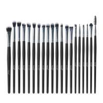 MSQ Eyeshadow Brushes Set 20pcs Makeup Eye Brushes Eyeshadow Blending Brush Eyebrow Eyeliner Lip Brush Beauty Brushes, Best for Gifts - Black