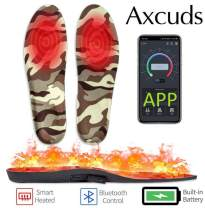 Axcuds Battery Powered Rechargeable Bluetooth App Control Heated Insoles Foot Warmers for Men and Women Up to 7 Hours of Heat Have Warm feet on Winter Adventures Like Hunting Working Skiing
